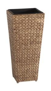 Natürlicher Pflanzkübel aus Wasserhyazinthe