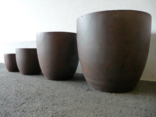 Fibreclay Pflanzkübel im 4er Set von point-garden