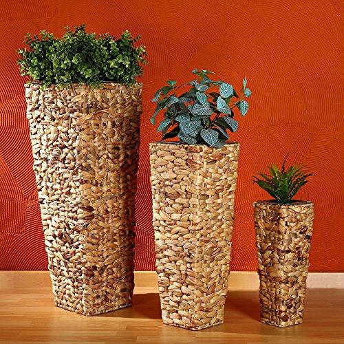 Pflanzkübel aus Wasserhyazinthe im 3er Set von Melko